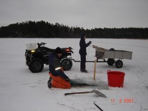Nätfiske på vintern